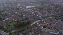 Bridgewater aerial Stock Footage