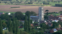 Westonzoyland aerial Stock Footage