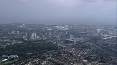 Passing High Over Cardiff Stock Footage