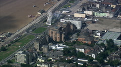Passing High Over Weston-Super-Mare Stock Footage