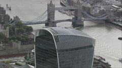 London aerial Stock Footage