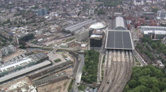 Kings Cross Eurostar Terminal Stock Footage