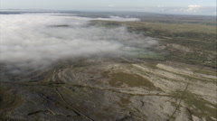 Burren Plateau Through Mist Stock Footage