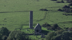 Holy Island And Old Monastery Stock Footage
