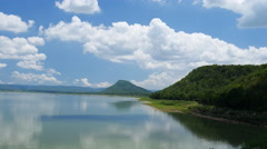 Moon river, view from the Lam Mun Bon dam, in Nakhon Ratchasima, Thailand Stock Footage
