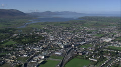 Tralee aerial Stock Footage
