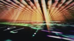 A data floor and ceiling with light beams - Video Background 1030 HD, 4K Stock Footage