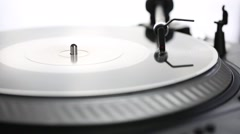 DJ needle on spinning turntable Stock Footage