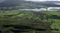 Approaching Cahersiveen From Coast Stock Footage