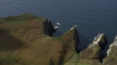 Cliffs Near Bray Head Stock Footage
