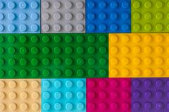 Background of some different colors. Lego baseplates Stock Photos