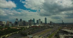 Downtown Dallas Uptown Highrises Stock Footage