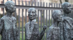 Holocaust Memorial at Jewish Cemetery in Berlin Arkistovideo