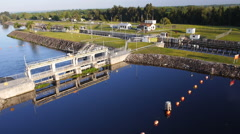 Ortona Locks, Caloosahatchee River.  in Florida Stock Footage