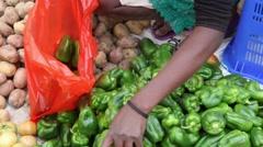 Cape Verde fruit market Stock Footage