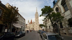 Matthias Church in Budapest. Stock Footage