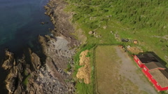 Newfoundland scenic aerial Stock Footage