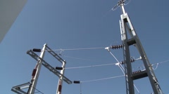 Electric Infrastructure power plant Stock Footage