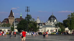 Heroes Square in Budapest. Stock Footage