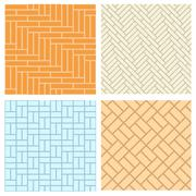 Seamless brick pattern for floor and wal Stock Illustration