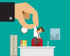 Businessman get new job or promoted from his boss Stock Illustration