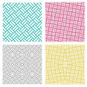 Geometric seamless weave line pattern in korean style Stock Illustration
