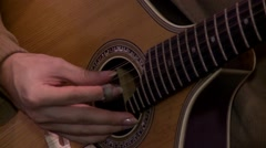 Playing twelve steel strings portuguese guitar fado Stock Footage