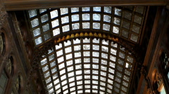 Ancient wooden arched ceiling. Stock Footage