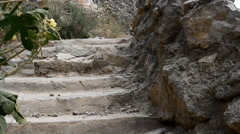 Ancient Path in the Rocks Stock Footage