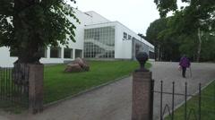 Vyborg Library Stock Footage