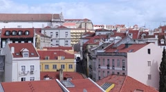Lisbon old buildings, Portugal Stock Footage