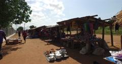 African local market walk pov 4K Stock Footage