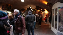 Tourists in Stables Market in London Stock Footage