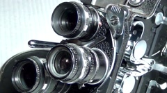 "Old ,,Bolex"" 16mm Movie Cameras Stock Footage"