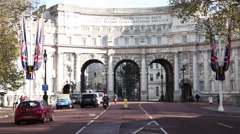 Admiralty Arch in london Stock Footage