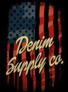 Vintage america denim typography, t-shirt graphics, vectors.. Stock Illustration