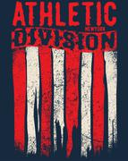 Athletic sport typography, t-shirt graphics, vectors - stock illustration