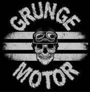 Tee skull motorcycle graphic design Stock Illustration