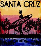 Summer tee graphic design florida california Piirros
