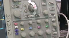 Digital Oscilloscope working Stock Footage