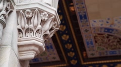 The Minton tile ceiling at Bethesda Terrace Stock Footage