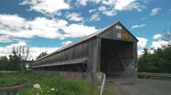 Time Lapse of Old Wood Covered Bridge. Stock Footage