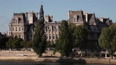 Old building in paris france Stock Footage