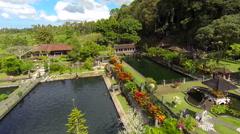 Tirta Gangga water palace, Karangasem, aerial shot Stock Footage