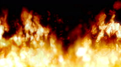 Realistic Fire Animation Stock Footage