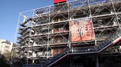 Centre Georges Pompidou in Paris France Stock Footage
