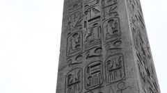 Egyptian Obelisk of Luxor at the Center of the Place de la Concorde in Paris Stock Footage