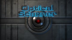 Optical Scanner - Laser Scanning 3D Text Logo Stinger Stock After Effects