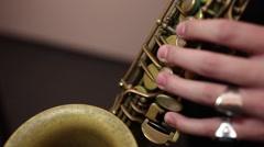 Man playing saxophone Arkistovideo