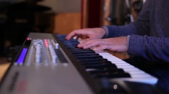 Pianist playing piano Stock Footage